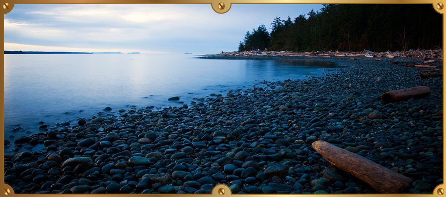 Beautiful coastline in the Quadra Island area
